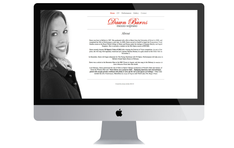 Dawn Burns web design