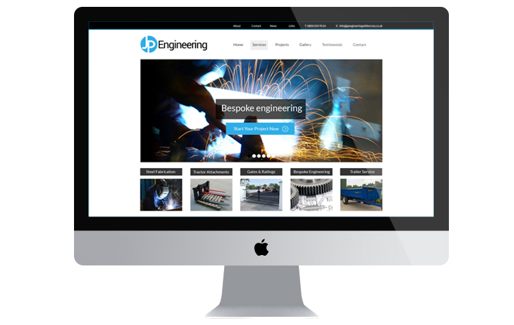 jp engineering web design