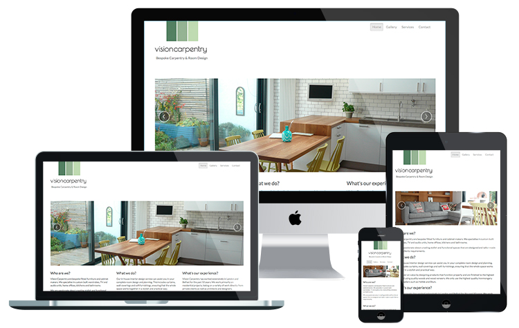 Vision Carpentry Website Design