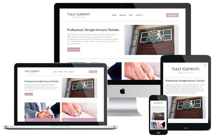Tully Clements Website Design