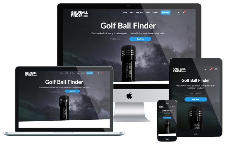Golf Ball Finder Website Design